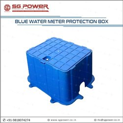Blue water meter protection box