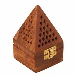 Tora Wooden Handmade Incense Sticks Holder Wooden Pyramid Incense Box Fragrance Stand Holder