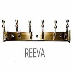 Screw in Reeva Brass Finish Coat Hook