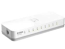 White LAN  Capable 8 Port D Link Network Switch, Model Name/Number: des1008c