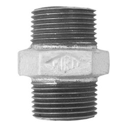 Kirti Threaded Galvanized Iron Hex Nipple, For Plumbing Pipe, Size: 2 inch