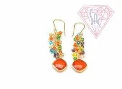 Beaded Chain Earrings