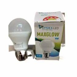 Polycarbonate Cool daylight 9W Syska Maxglow LED Bulb