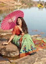 Multicolor Casual Wear SR Pure Linen Cotton