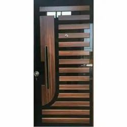Hinged Glass Decorative Door, For Office, Thickness: 10 Mm