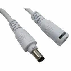 White Male Female DC Connector, 5 A, 80 Degree C