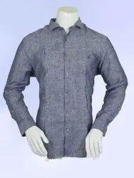 Blue Regular Fit Formal Full Sleeves Shirt, Machine wash