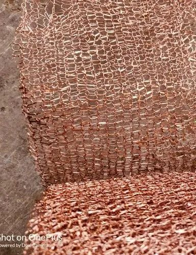 COPPER FLAT WIRE KNITTED MESH