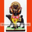Black Bhairav Baba Marble Statue