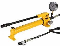 Manual Hydraulic Hand Pump With Pressure Guage