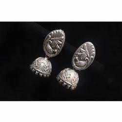 Traditional Gypsy Oxidised Earrings