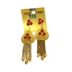Golden Brass Ladies Fashion Earrings