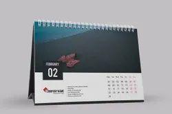 2-3 Days Art Paper Calendar Design Printing Service, In Local Area