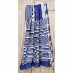 Designer Blue Chanderi Silk Saree, 5.5 Meter