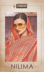 Sangam Prints Nilima Banrasi Crystal Silk Traditional Saree Catalog