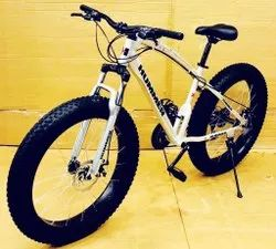 Silver Hummer Fat Tyre Cycle