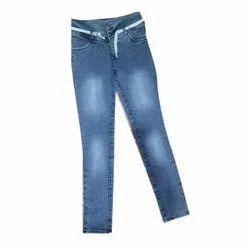 Regular Button Blue Shade Ladies Jeans, Waist Size: 26x30