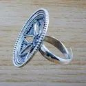 925 Sterling Silver Cut Designer Jewelry Plain Adjustable Ring Wr-5585