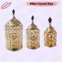Big Size large Brass Crystal Akhand Deep Diya