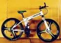 White Land Rover Foldable Cycle