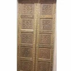 Teak Wood Double Door, For Home