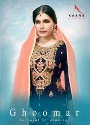 Kaara Ghoomar Georgette Sharara Style Salwar Kameez Catalog