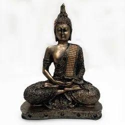 Meditating Golden Buddha Statue Big Size Idols Decorative Showpiece