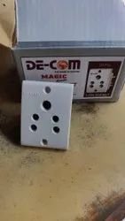 6 A White 3 Pin Socket Heavy, For Electric Fittings, 240V