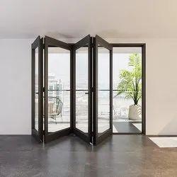 Stainless Steel Aluminum Folding Door, For Commercial