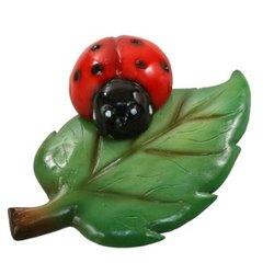 Ladybug On Leaf Polystone Statue PS22