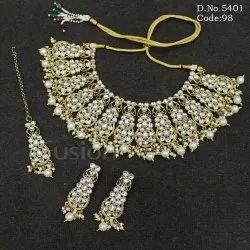 Ethnic Indian Wedding Kundan Necklace Set
