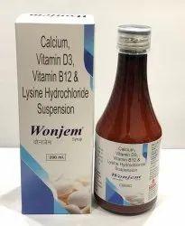 Calcium Carbonate, Vitamin B12 & Cholecalciferol Suspension