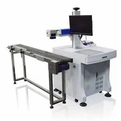 On Fly Fiber Laser Marking Machine
