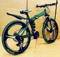 Green Land Rover Foldable Cycle