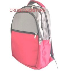 Angel Pvc Coated Cord Fabric CRD00182GY/RD College Bag