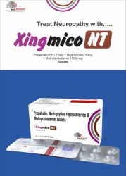Xingmico-NT Tablet Pregabalin 75mg Mecobalamin 1500mcg Nortrytline 10mg