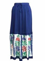 Bottom STRAIGHT Paras Fashion Casual Tie-Dye Long Skirt for Women, Size: Free