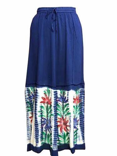 Casual Tie-Dye Long Skirt