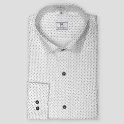 Boros Cotton Oxford Black and White Shirt, Size: Xs-xl