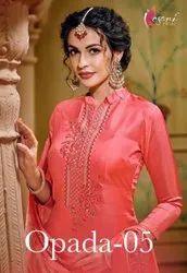 Kesari Trendz Opada Vol-5 Viscose Silk Plazzo Style Suits Catalog