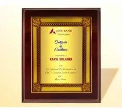 FP 10768 Golden Certificate Memento