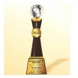 WM 9774 Flourish Crystal Ball Trophy