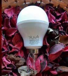 Yuva Innovation Plastic 9W LED Bulb, Base Type: B22