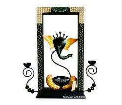 Iron Ganesha T-Light Candle Holder Home/Table/Wall Decor Item