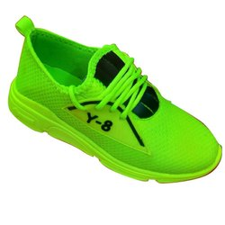 Kids Green Casual Lace Up Shoes, 2-5