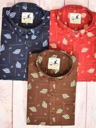 Trendy Fit Men Print Shirt