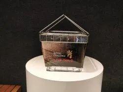 Accura Rectangular Stainless Steel Shopping Basket