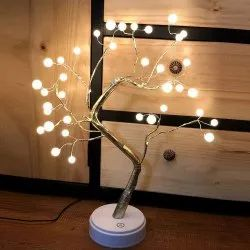 Decorative Led Shimmer Tree Desk Lamp