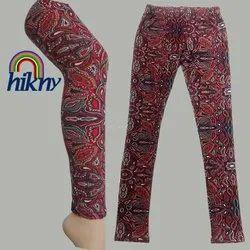 Hikny Spandex Cotton Women Printed Leggings, Size: Free Size