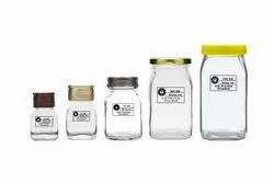 Square Honey Glass Jars